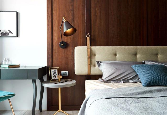 美式床头背景设计图