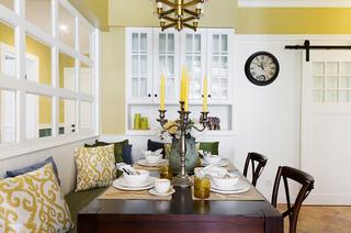 100平美式三居室餐厅效果图