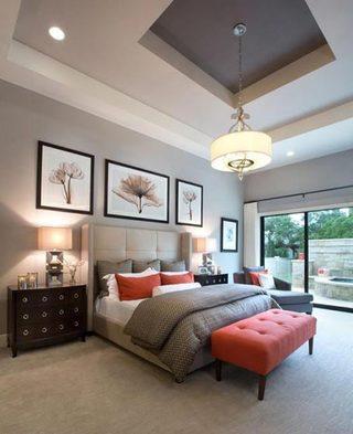 色彩拼接卧室装修装饰效果图
