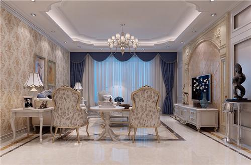 欧式客厅电视背景装修效果图 打造精美华丽的欧式背景