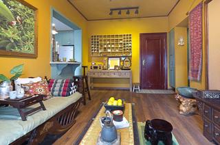 45平小户型一居客厅木地板装修