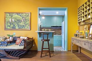 45平小户型一居沙发背景墙装饰画