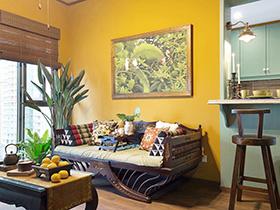 45平东南亚风格一居室装修 浓郁咖喱味