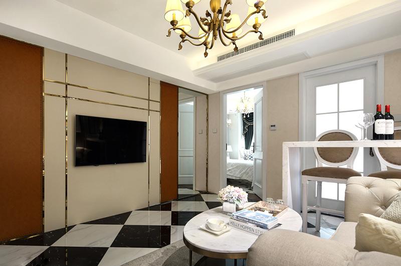 60平小户型一居电视背景墙设计