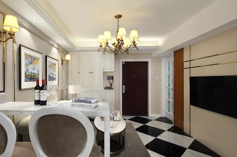 60平小户型一居客厅地板图片
