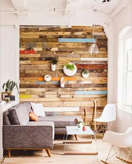 木质客厅背景墙装修设计