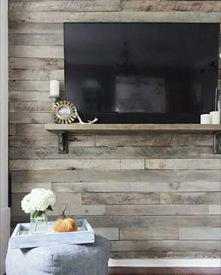 客厅木质电视背景墙效果图