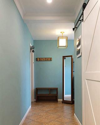 120平美式风格三居门厅设计大全