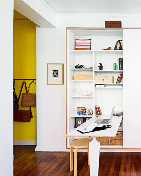 42平小户型一居开放式书房图