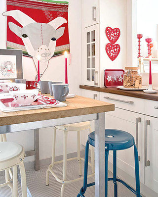 125平北欧风格三居厨房装修图