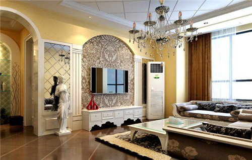 2017欧式风格室内装修效果图 高贵典雅欧式客厅装修图片