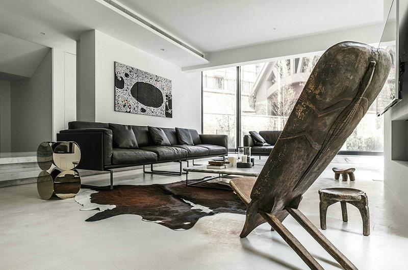 400平独栋别墅装修沙发背景墙装修
