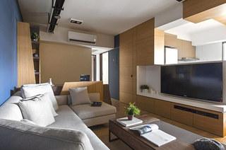 70平小户型装修客厅电视柜图片