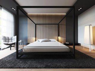 卧室条纹背景设计构造图