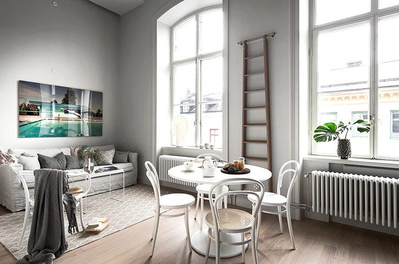 北欧风格单身公寓餐厅装修图
