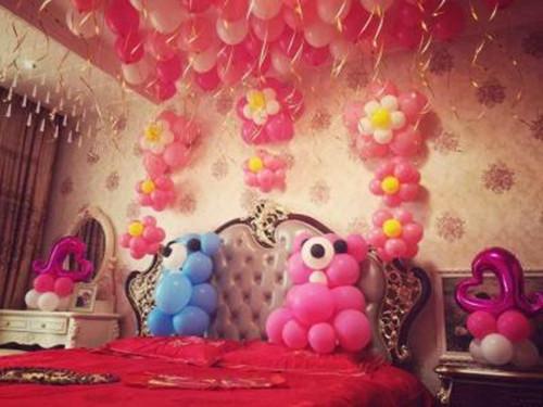 新婚房间气球布置图片 气球布置婚房有哪些风格图片