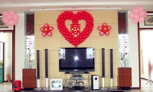 新婚房间气球布置图片欣赏 怎样用气球布置婚房图片