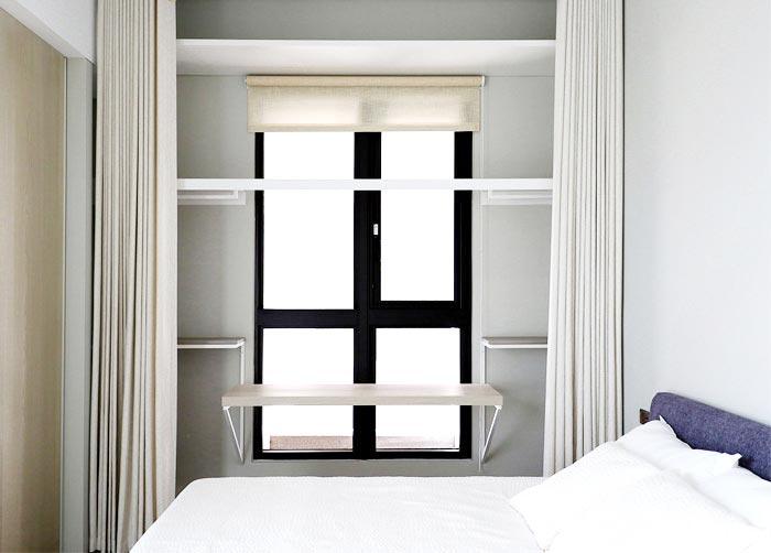 现代极简风卧室收纳参考图