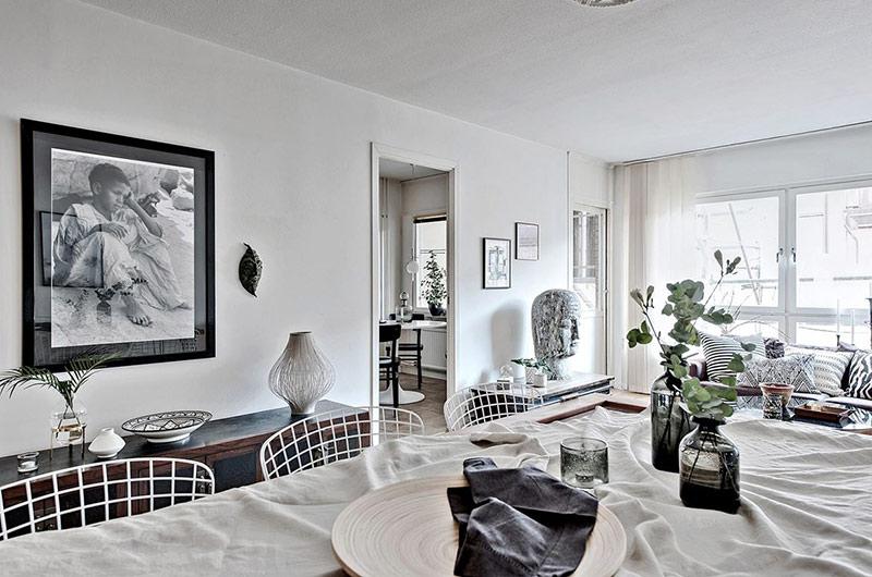 北欧风格一居室餐厅背景墙装饰画