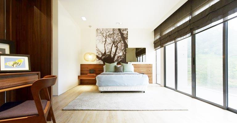 现代极简风卧室设计实景图