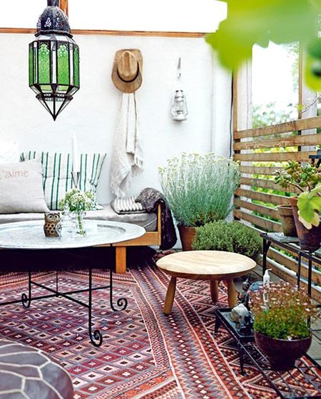 阳光房设计绿色植物摆放