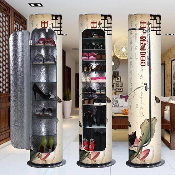 中式鞋柜摆放设计参考图
