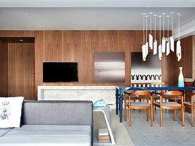 80㎡现代美式精致公寓图  简单的浪漫