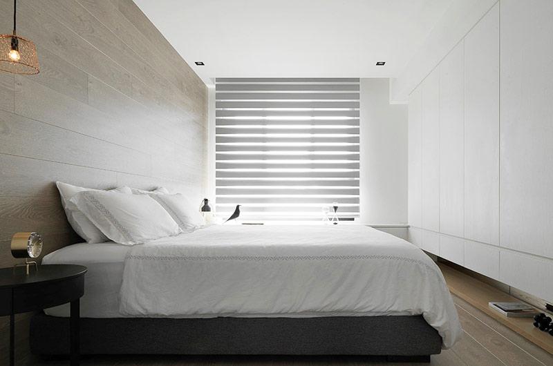 简约风格公寓装修卧室床品图片