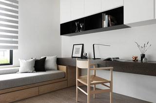 简约风格公寓装修书房效果图