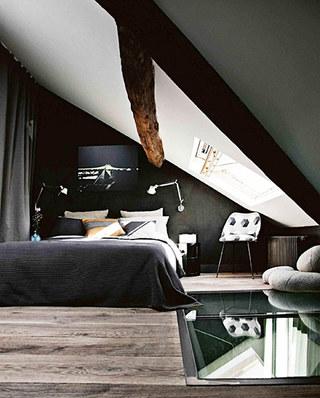 35平旧房改造装修主卧室设计