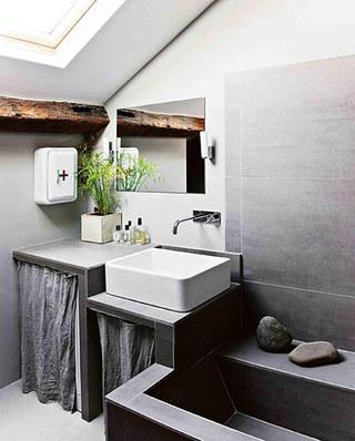 35平旧房改造装修卫生间效果图