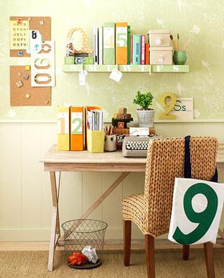 小户型书房装修壁纸效果图