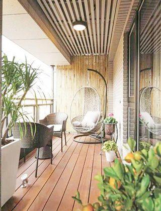 阳台改造花园装修效果图