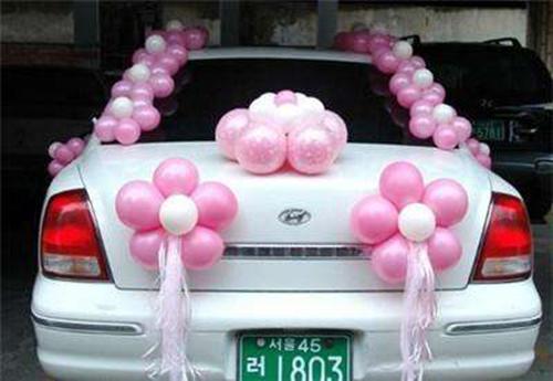 婚车气球装饰图片大全 气球婚车装饰技巧