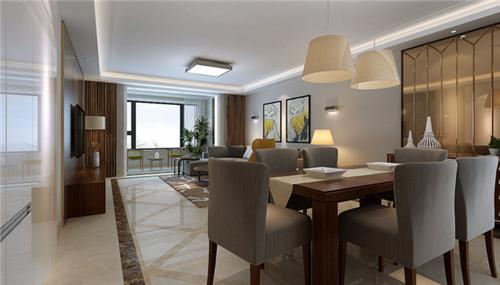 90平米三室一厅装修效果图 10万打造简约温馨三居室