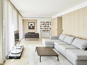 极简风现代公寓实景图   清净木质之家