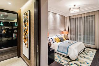现代中式风格装修主卧室装修