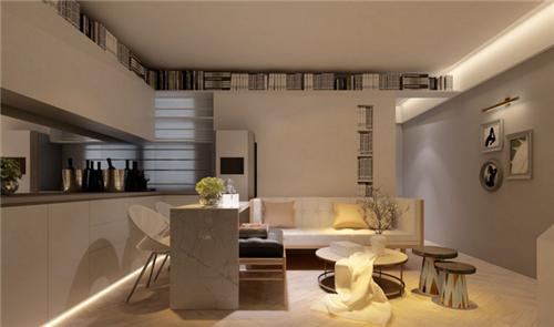 小户型家装设计效果图 60平米两室一厅装修案例