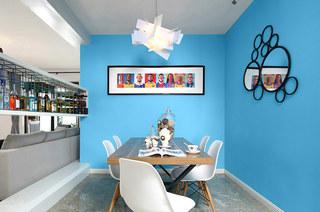 130平混搭风格三居餐厅效果图