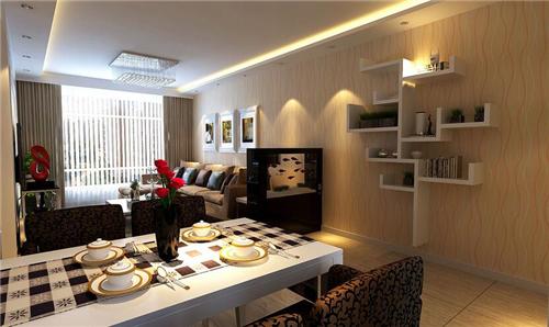 这是150平米房屋装修效果图的餐厅设计,整体空间采用开放...