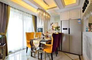 108平新古典风格二居餐厅效果图