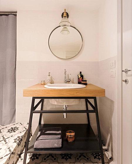 阁楼旧房改造装修洗手台图片