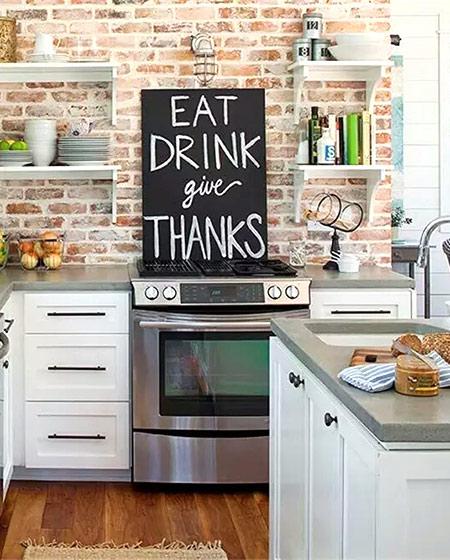 厨房砖墙背景墙效果图设计