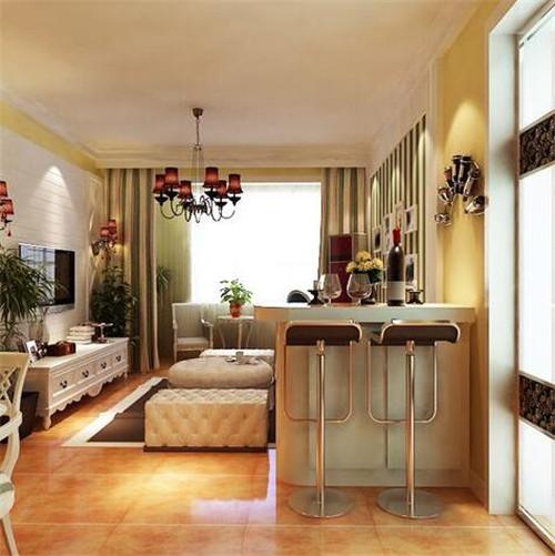客厅小吧台装修效果图 家庭迷你小酒吧4种设计方法图片