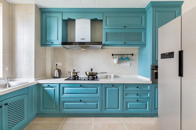 现代美式风格厨房效果图