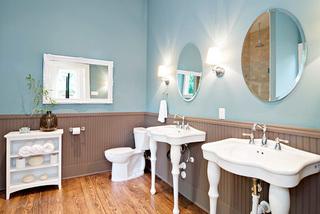 蓝色系浴室设计装修图