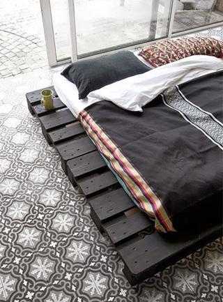 睡到飞起来  10个卧室木板床设计平面图5/10