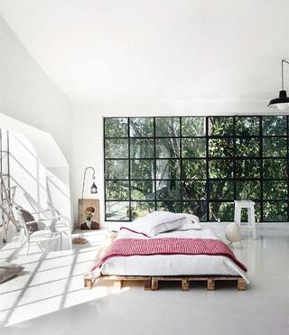 睡到飞起来  10个卧室木板床设计平面图6/10