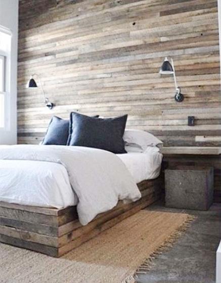 卧室木板床装修平面图