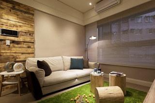 53平小公寓装修布艺沙发图片